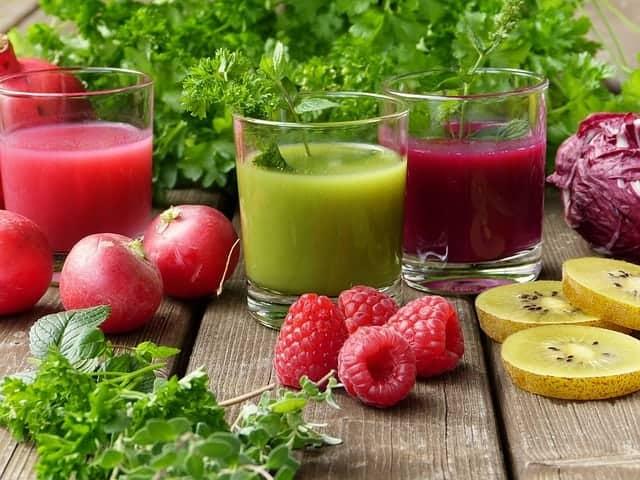 jugo de frutas y verduras