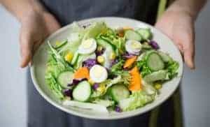 plato de vegetales saludables